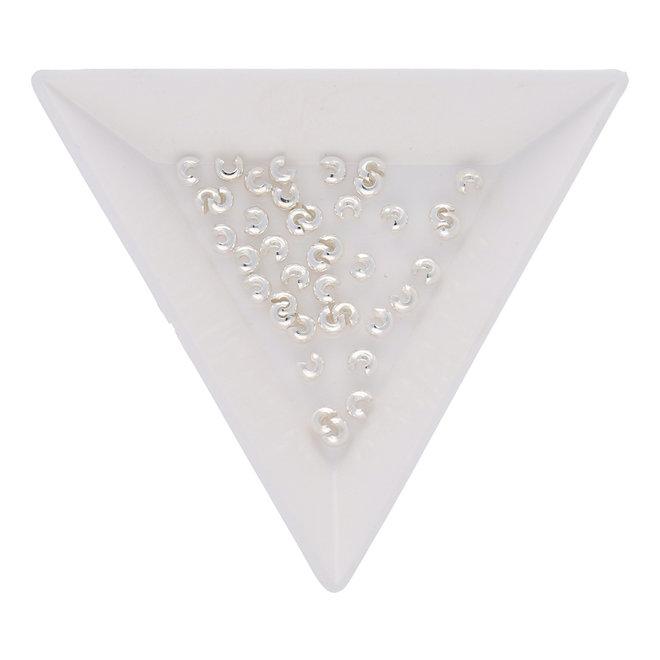 Kaschierperle für Quetschperlen 3 mm - Versilbert