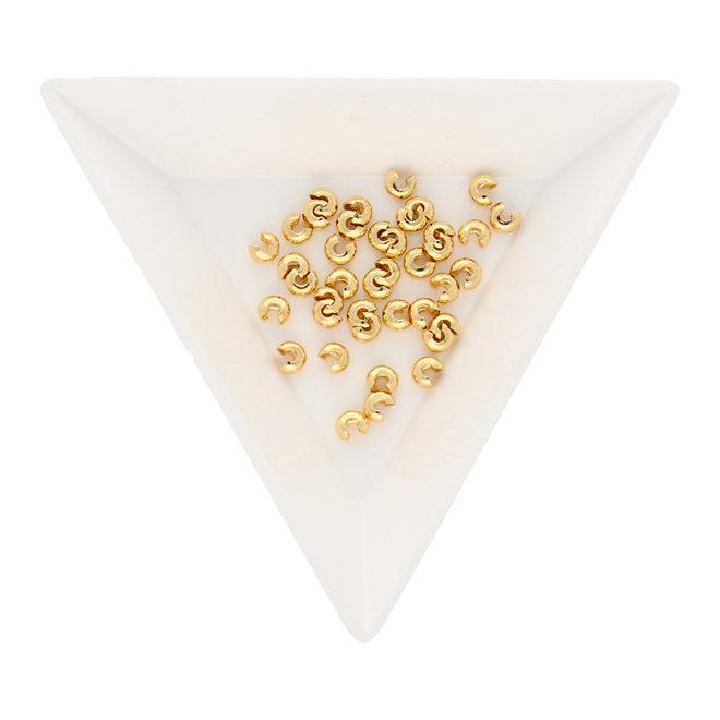 Kaschierperle für Quetschperlen 3 mm - Vergoldet