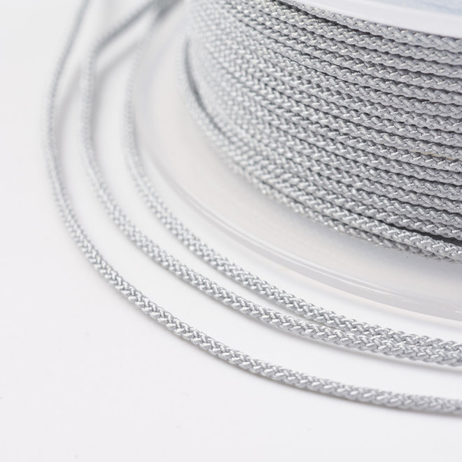 Kordel aus Nylon 1 mm - Silberfarbe