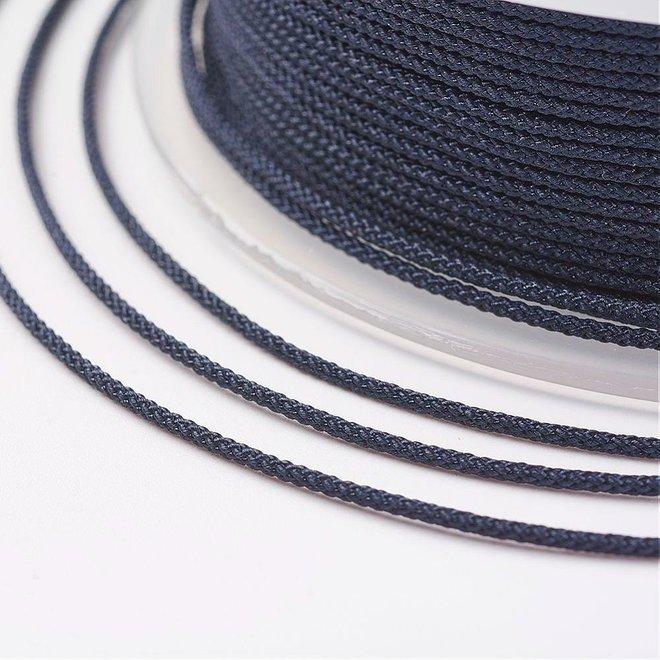 Cordon en nylon 1 mm - bleu foncé