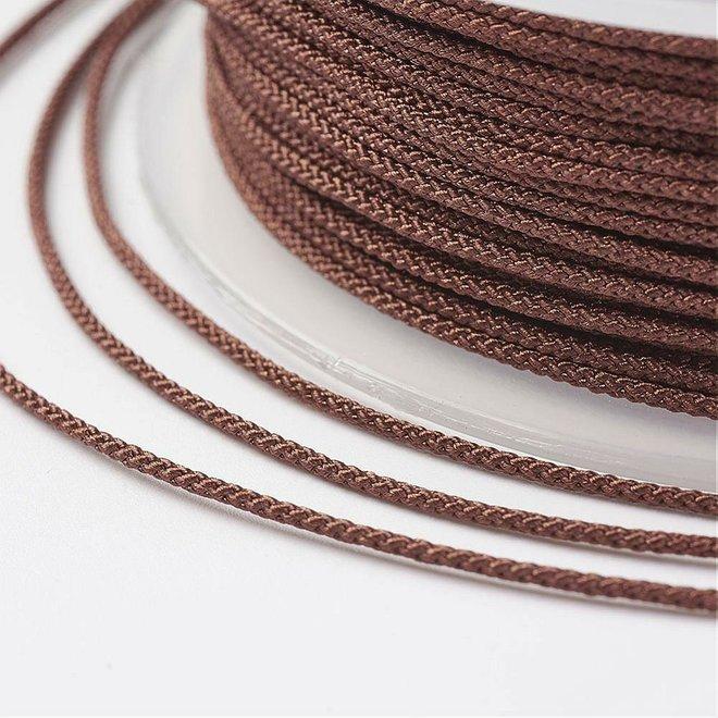 Cordon en nylon 1 mm - marron