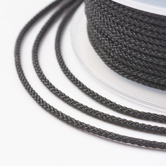 Kordel aus Nylon 1 mm - Schwarz