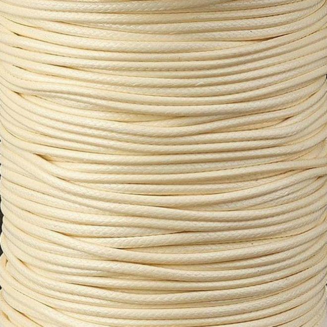 Cordon en polyester ciré 3 mm - beige