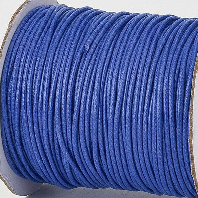 Kordel aus gewachstem Polyester 3 mm - Blau