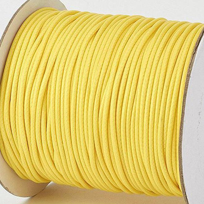 Kordel aus gewachstem Polyester 3 mm - Gelb