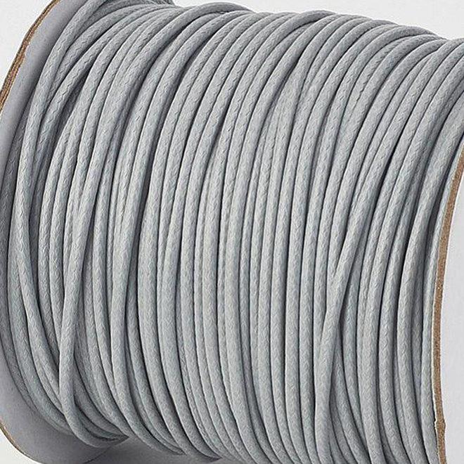 Cordon en polyester ciré 3 mm - gris