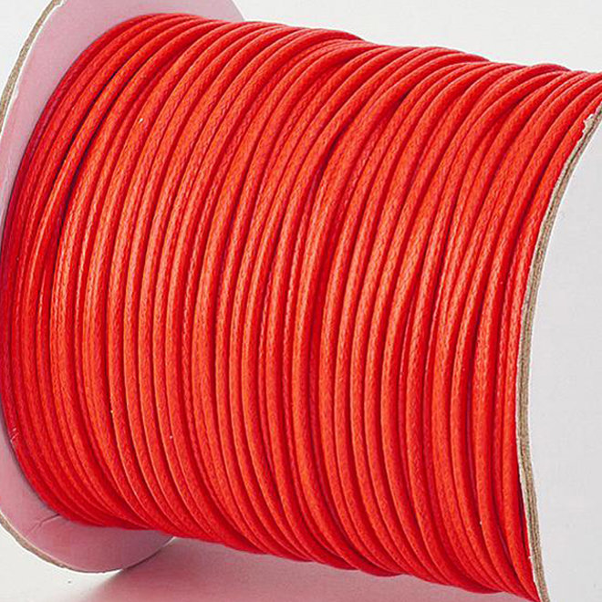 Cordon en polyester ciré 3 mm - orange