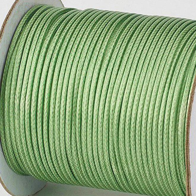 Kordel aus gewachstem Polyester 3 mm - Grün