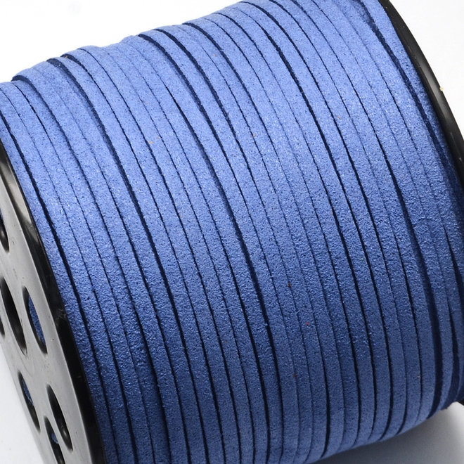 Cordoncino in pelle scamosciata sintetica - 3 mm - Royal Blue