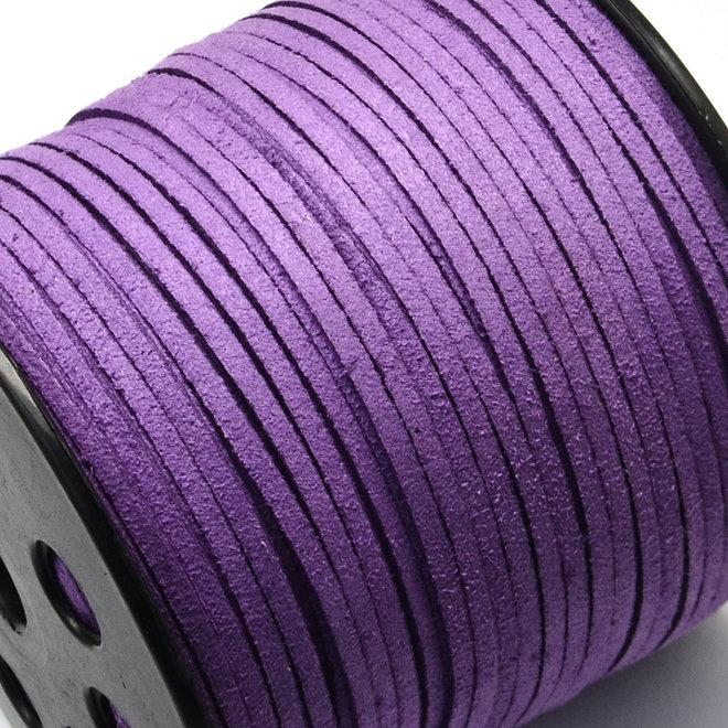 Synthetische Veloursleder Kordel - Violett