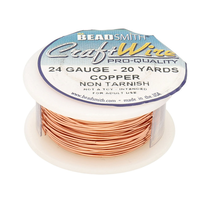 Filo metallico: Craft Wire – 24 Gauge – Copper Non Tarnish