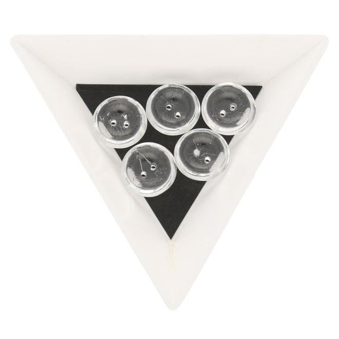 Cup Button 14 mm - Crystal