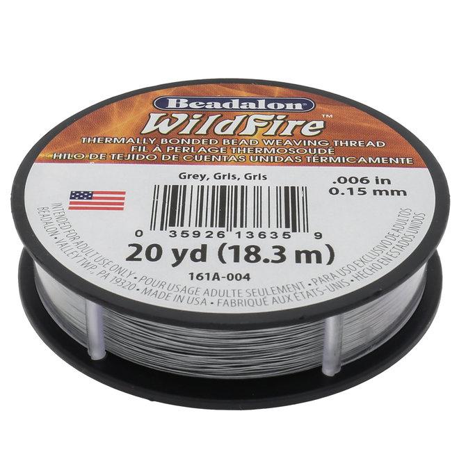Perlenfaden Wildfire 6 lb - Grey (18,3 m)
