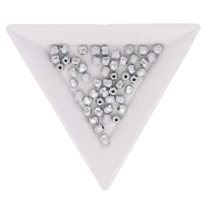 Fire polished 4 mm perles en verre - Crystal Etched Labrador Full