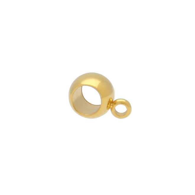 Bélière, attache-pendentifs en acier – couleur or