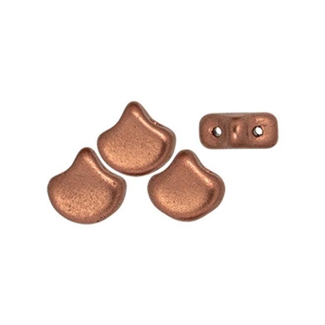 Ginkgo Leaf Bead - Matte - Metallic Bronze Copper