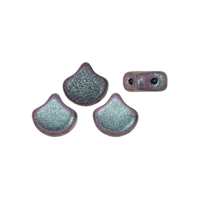 Ginkgo Leaf Bead - Polychrome - Orchid Aqua