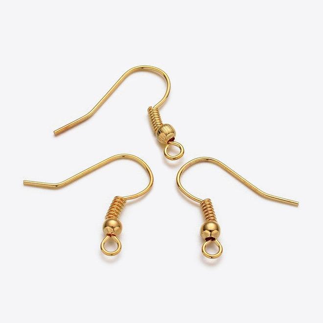 Ohrbügel für Ohrringe mit Kugel – Farbe Gold