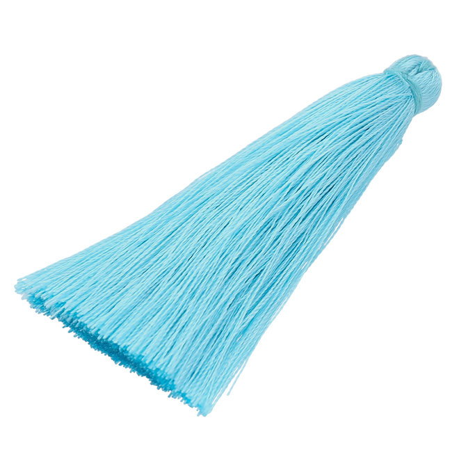 Quaste aus Nylon 70 x 10 mm - Hellblau