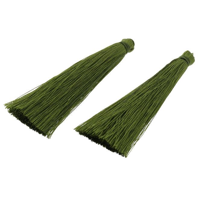 Quaste aus Nylon - Olivgrün