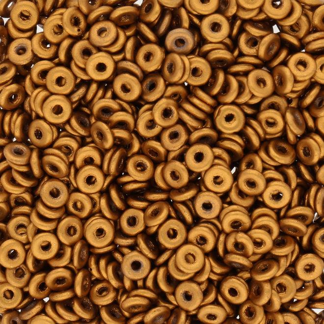 O Beads 3.8 x 1 mm - Brass Gold