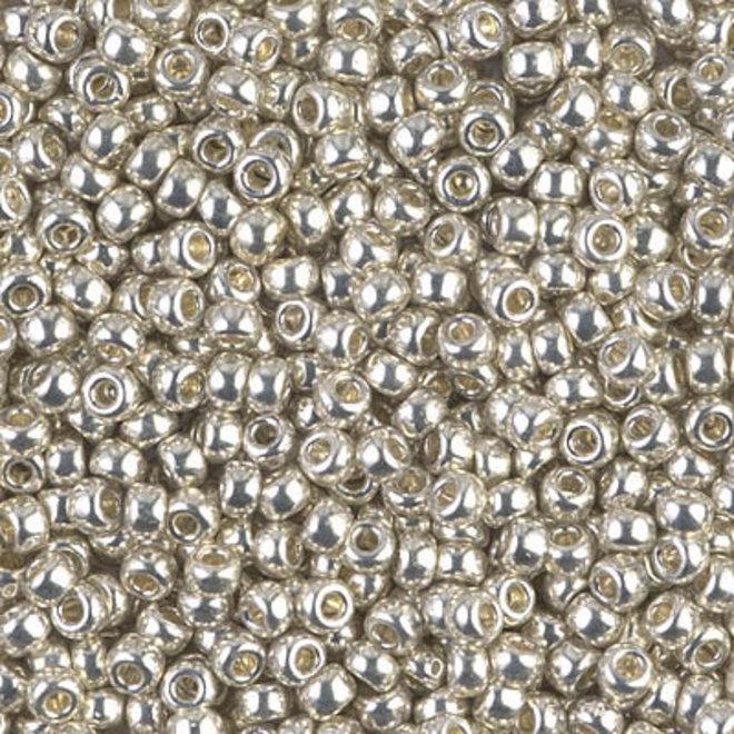 Rocailles-Perlen Miyuki 8/0 – Galvanized Silver