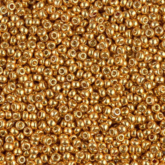 Rocailles-Perlen Miyuki 11/0 – Duracoat Galvanized Yellow Gold