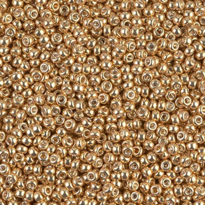 Perlina rocaille Miyuki 11/0 - Galvanized Yellow Gold
