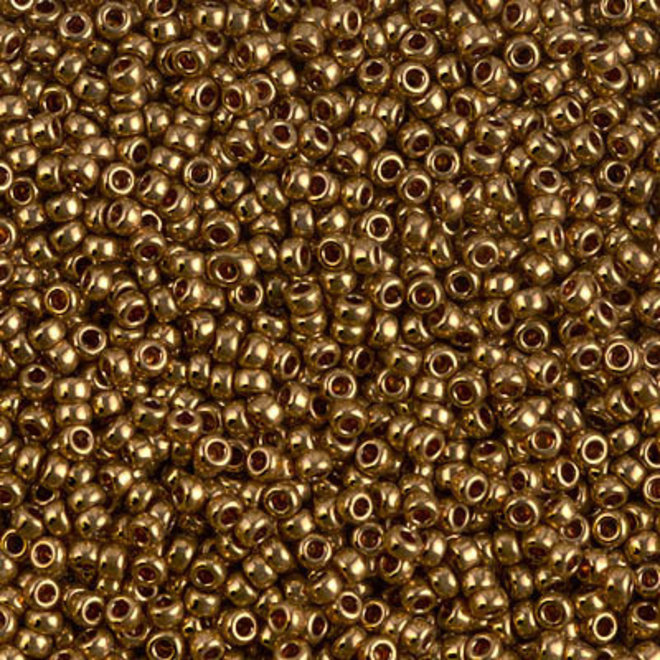 Rocailles-Perlen Miyuki 11/0 – Metallic Light Bronze