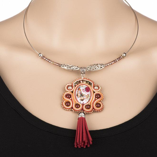 Choker-Halskette steif - versilbert