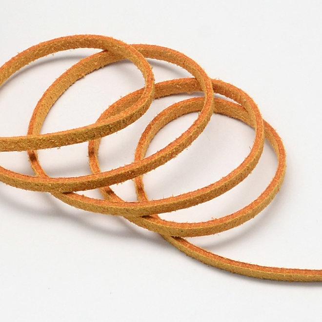 Cordon en cuir suédé synthétique - 3 mm - Jaune