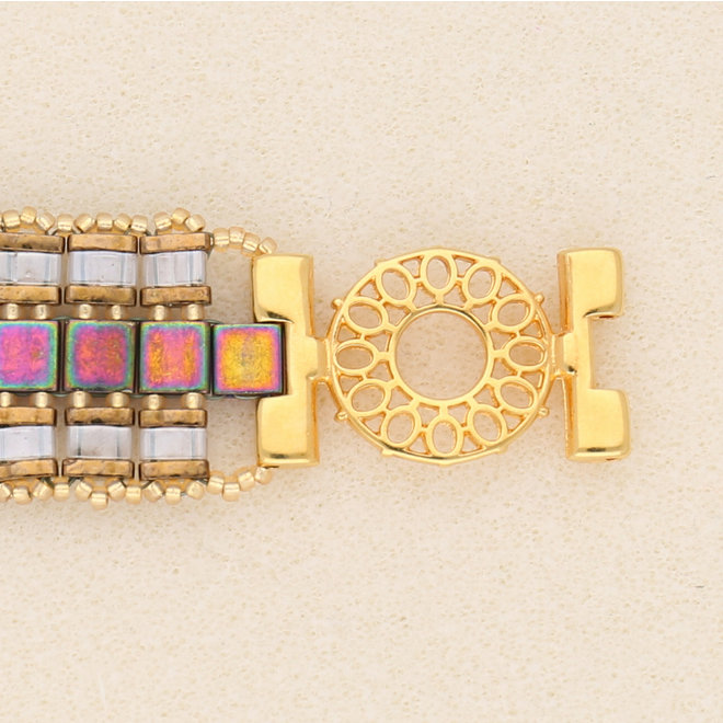 Verbindungselement Detis-Tila Bead Connector – Vergoldet 24 karat