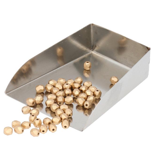 Fire polished 4 mm perles en verre - Aztec Gold