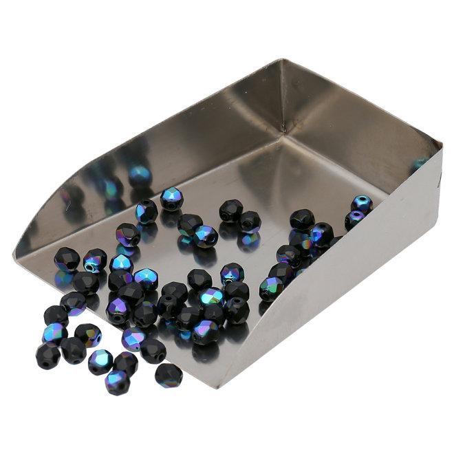 Fire polished 4 mm perles en verre - Jet AB