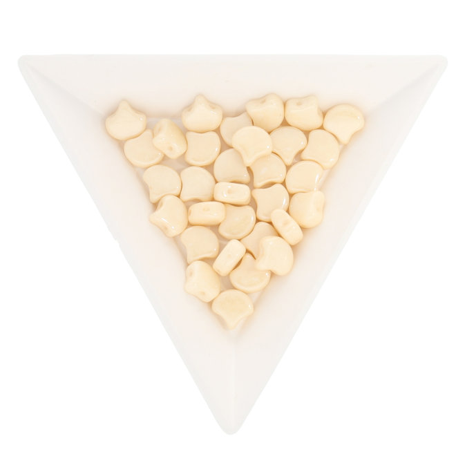 Ginkgo Leaf Bead - Luster - Opaque Champagne