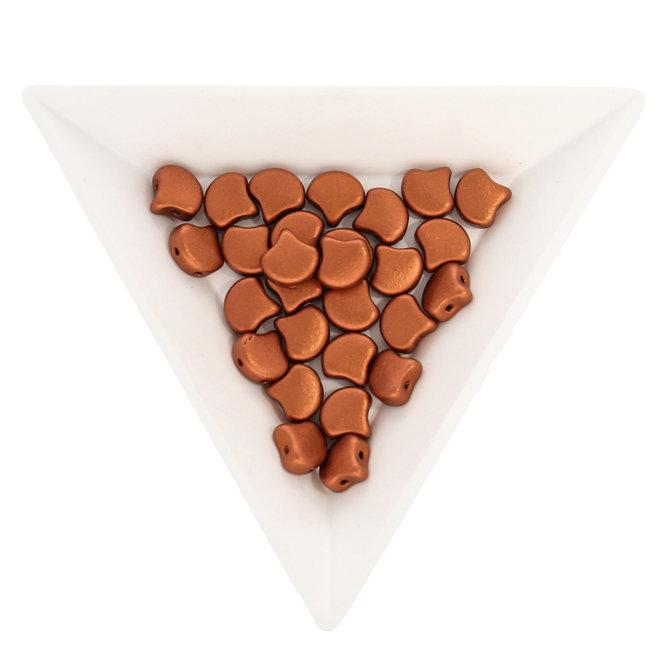 Ginkgo Leaf Bead - Matte - Metallic Dark Copper