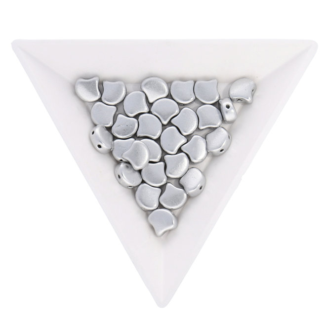 Ginkgo Leaf Bead - Matte - Metallic Silver