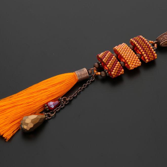 Quaste aus Nylon 65 x 6 mm  - Orange