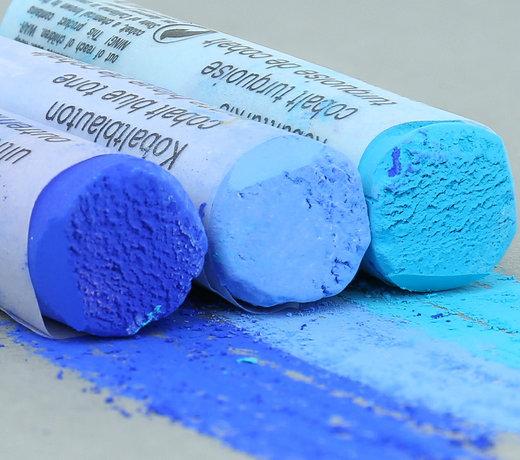 Blau und Türkis