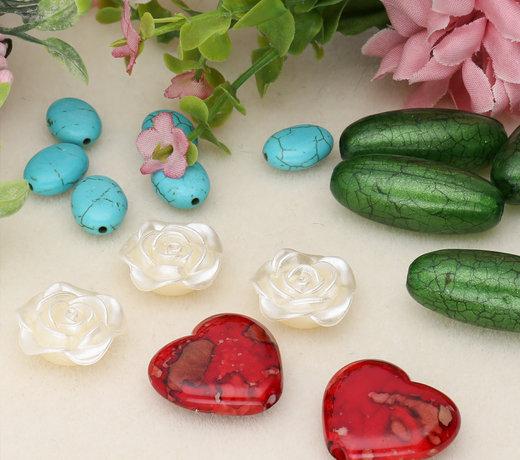 Perles acryliques - différentes formes