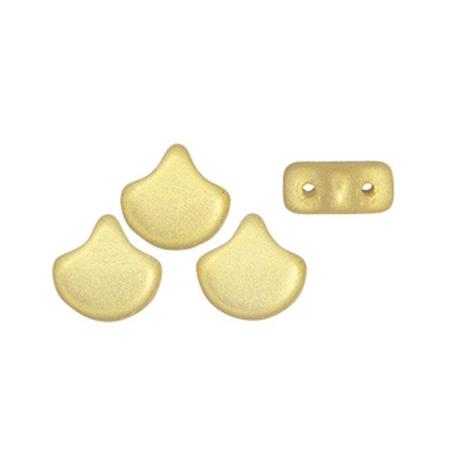 Ginkgo Leaf Bead - Chatoyant Light Gold