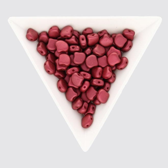 Ginkgo Leaf Bead - Chatoyant Red