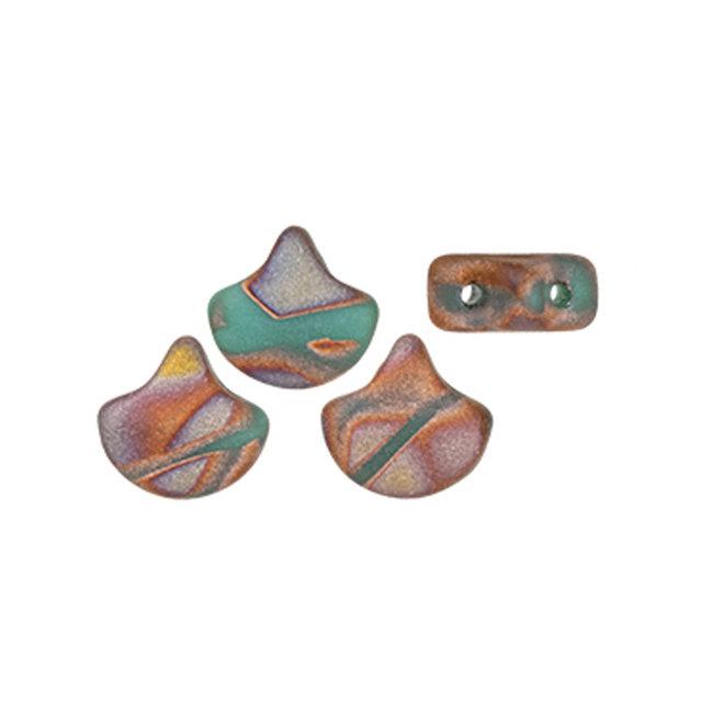 Ginkgo Leaf Bead - Matte - Bronze Apollo