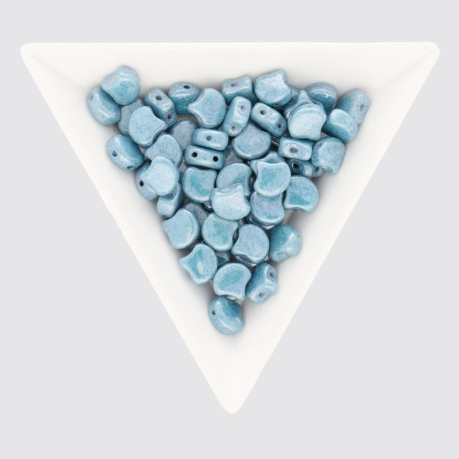 Ginkgo Leaf Bead - Luster - Opaque Blue