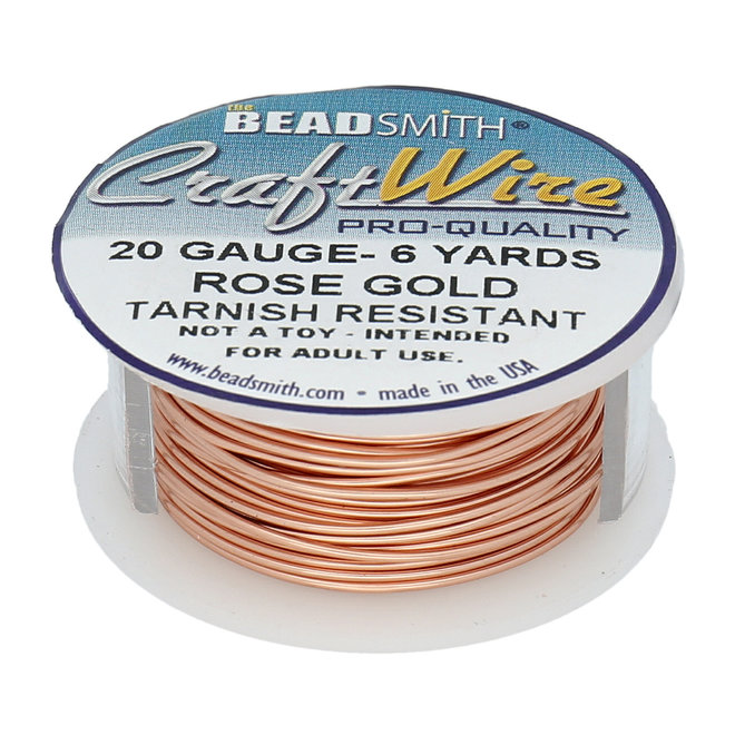 Kupferdraht: Craft Wire – 20 Gauge – Rose Gold Tarnish Resistant