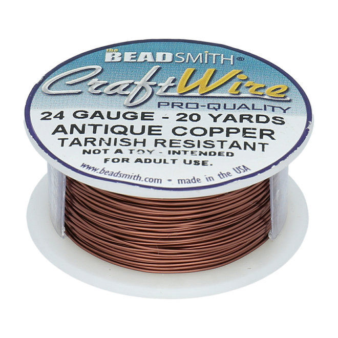 Fil métallique : Craft Wire – 24 Gauge – Antique Copper Tarnish Resistant