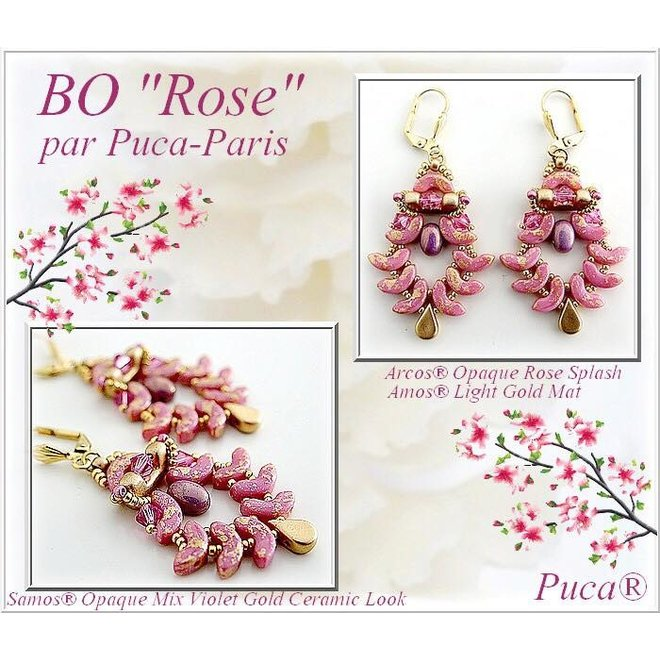Arcos® Par Puca® - Opaque Mix Amethyst/Gold Ceramic Look