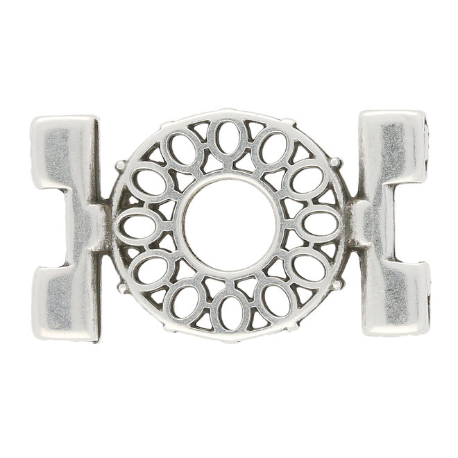 Raccordo Detis-Tila Bead Connector – Placcato argento