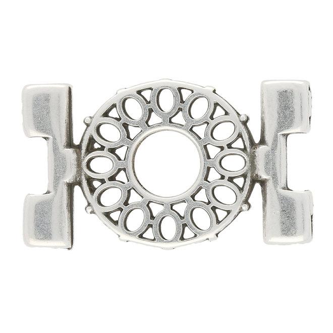 Detis-Tila Bead Connector - Silver Plate