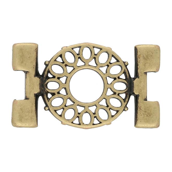 Verbindungselement Detis-Tila Bead Connector – Antique Brass Plate